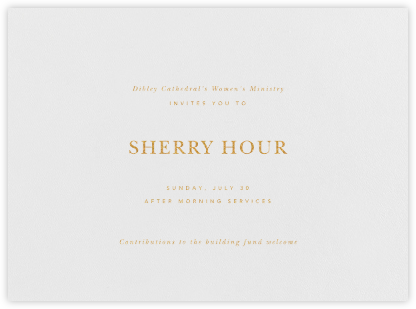 Wilcox - Gold - Paperless Post - Reception invitations
