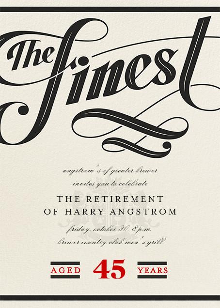 Barrel-Aged - Paperless Post - Retirement invitations, farewell invitations