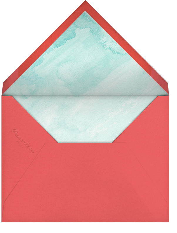 Beach Coral - Paperless Post - Casual entertaining - envelope back