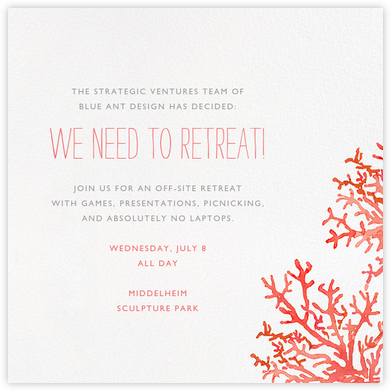 Beach Coral - Paperless Post - Casual Party Invitations