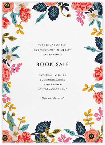Birch Monarch Suite (Invitation) - White - Rifle Paper Co. - Fundraiser Invitations