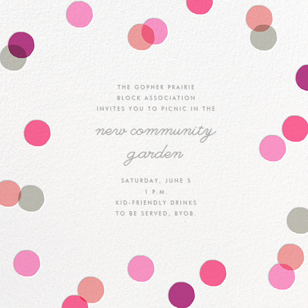Carnaby - Pink - Paperless Post - Casual entertaining