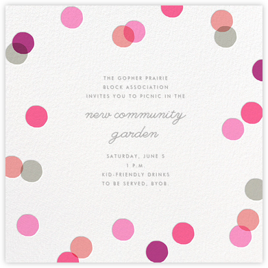 Carnaby - Pink - Paperless Post - Casual Party Invitations