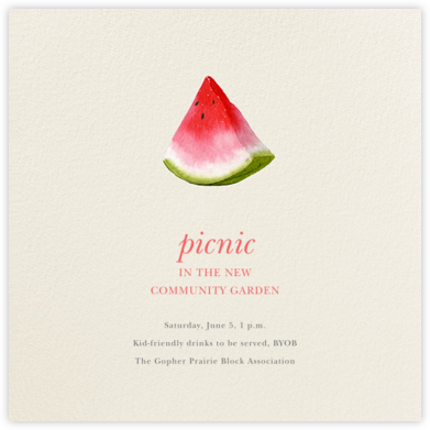 Slice of Summer - Felix Doolittle - Casual Party Invitations