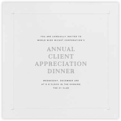Square Embossed Corners - Blind Embossed (Large Square) - Paperless Post - Reception invitations