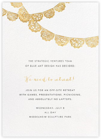 Tulum (Invitation) - Gold - Paperless Post - Casual Party Invitations