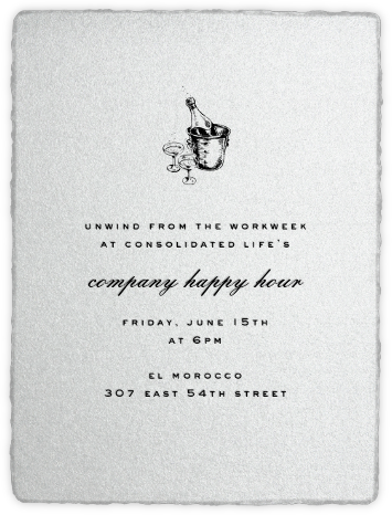 Deckle (Tall) - Silver - Paperless Post - Happy Hour Invitations