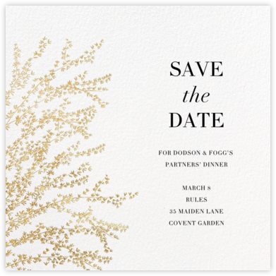 Forsythia - Gold - Paperless Post - Event save the dates