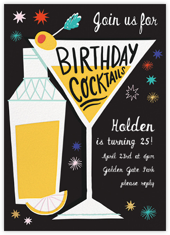 All Shook Up - Hello!Lucky - Adult Birthday Invitations