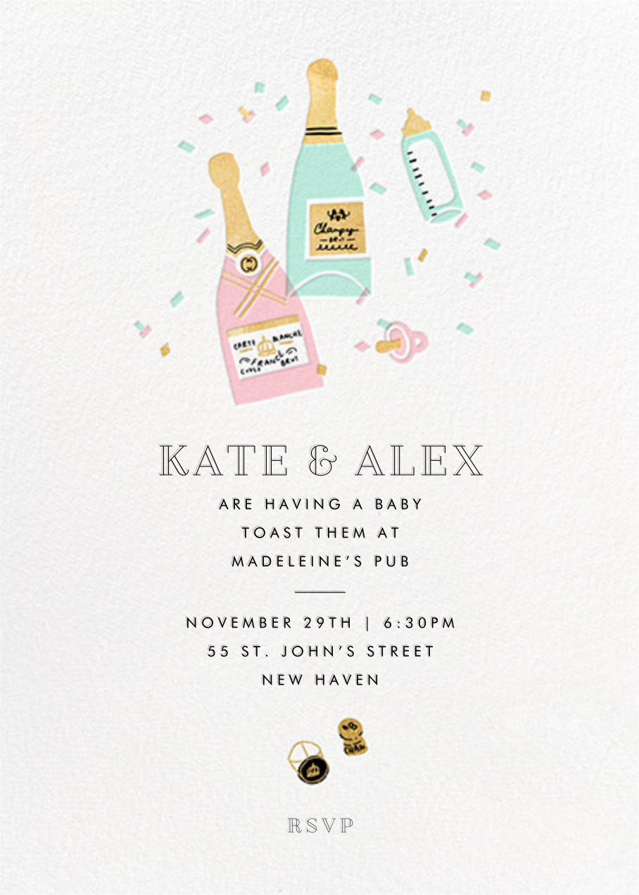 Bottles on Bottles - Hello!Lucky - Celebration invitations