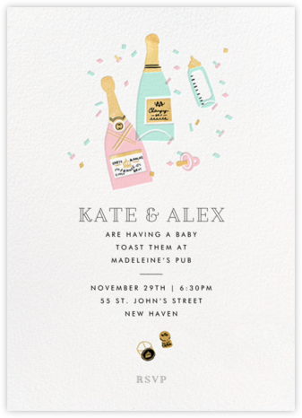 Bottles on Bottles - Hello!Lucky - Baby shower invitations