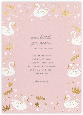 Fairy Tale Royalty - Blush - Hello!Lucky - Online Baby Shower Invitations