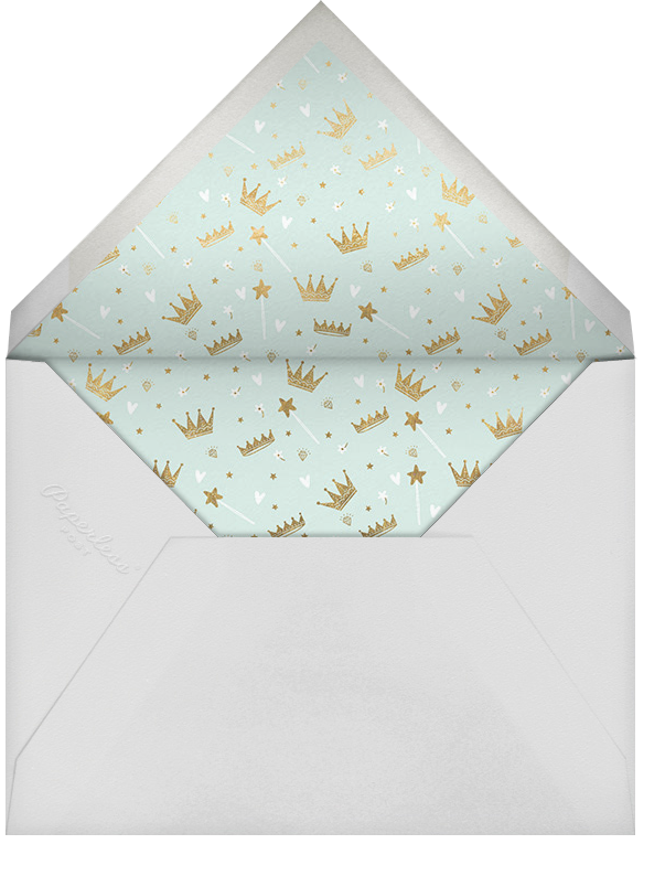 Fairy Tale Royalty - Mint - Hello!Lucky - Baby shower - envelope back