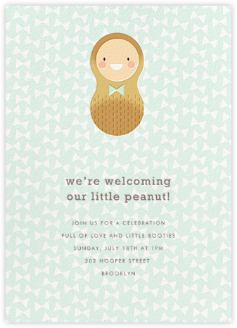 Little Peanut - Fair - Hello!Lucky - Baby Shower Invitations