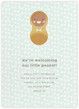 Little Peanut - Mocha - Hello!Lucky - Baby shower invitations