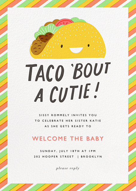 Taco the Town - Hello!Lucky - Celebration invitations