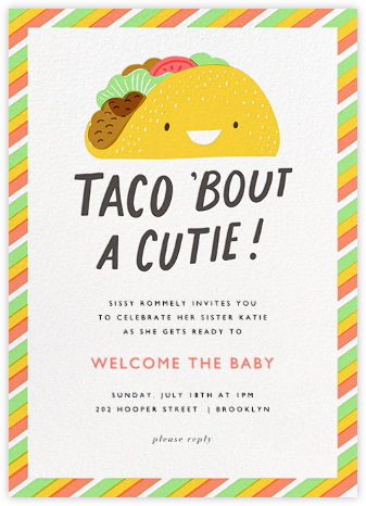 Taco the Town - Hello!Lucky - Baby shower invitations