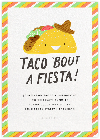 Taco the Town - Hello!Lucky - Online Party Invitations