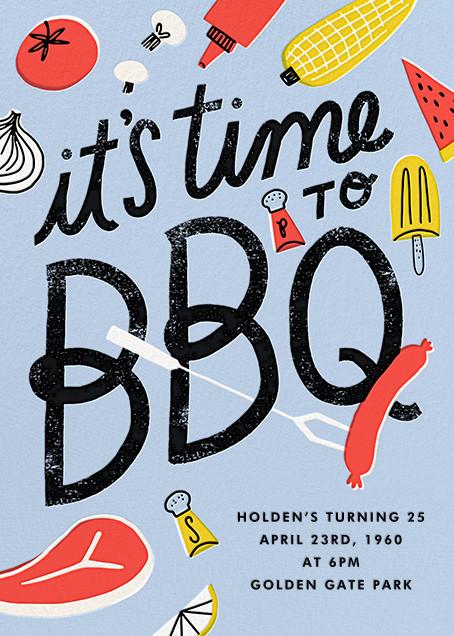 Grill 'Em - Hello!Lucky - Summer entertaining invitations