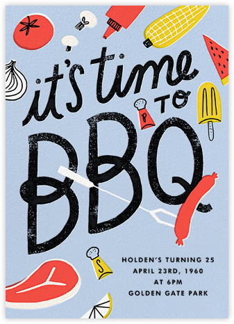 Grill 'Em - Hello!Lucky - Pool Party Invitations