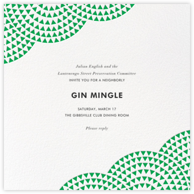 Savoy - Emerald - Paperless Post - Casual Party Invitations