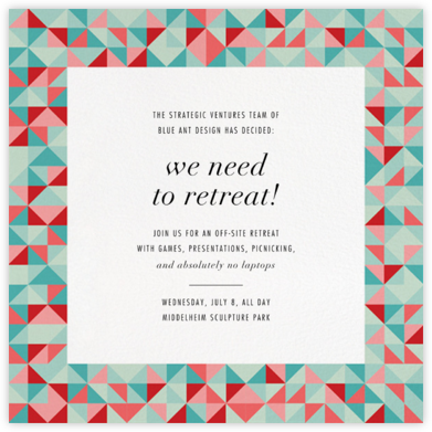 Quilt Block - Paperless Post - Business event invitations