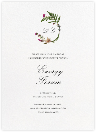 Petites Fleurs Sauvage (Invitation) - Paperless Post - Save the dates