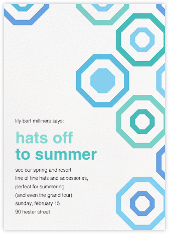 Octagons - Blue - Paperless Post - Business Party Invitations