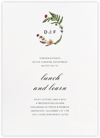 Petites Fleurs Sauvage (Invitation) - Paperless Post - Dinner and luncheon