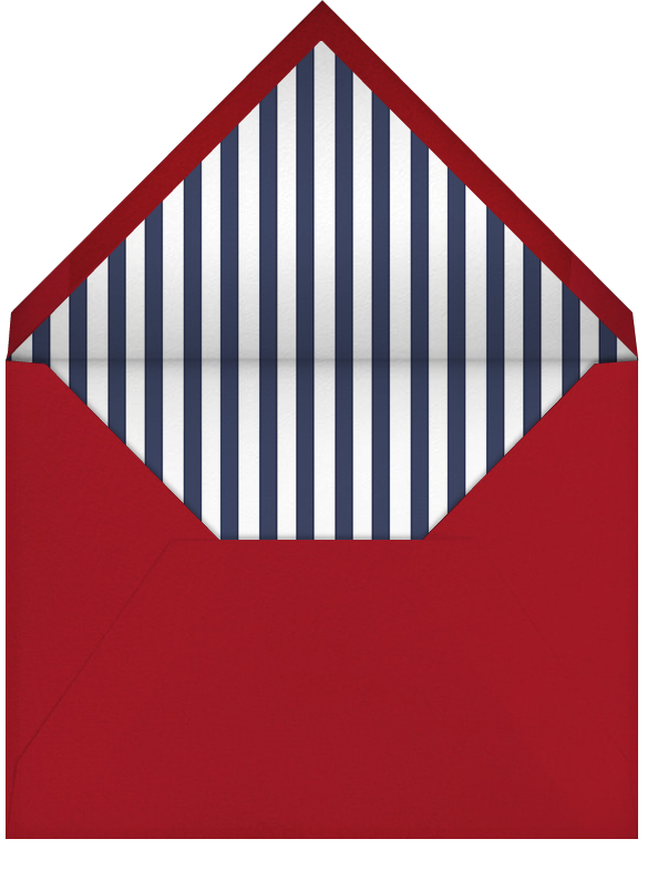 Patriotic Stripes - Navy/Crimson - Paperless Post - Casual entertaining - envelope back