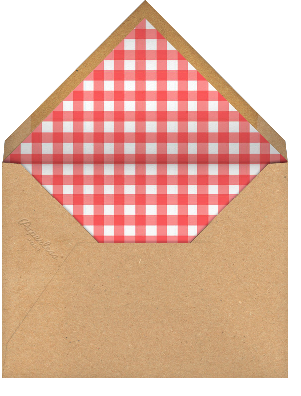 Picnic Table - Paperless Post - Casual entertaining - envelope back