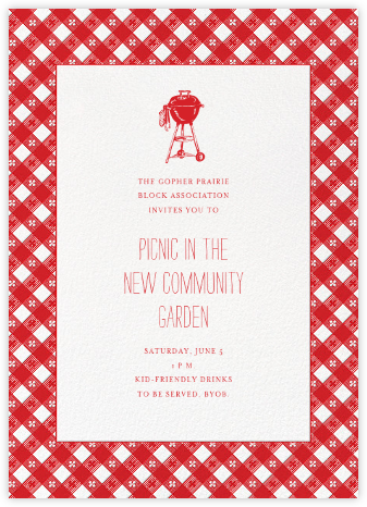 Picnic Table - Paperless Post - Casual Party Invitations