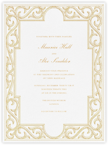 Sacher (Invitation) - Paperless Post - Wedding Invitations