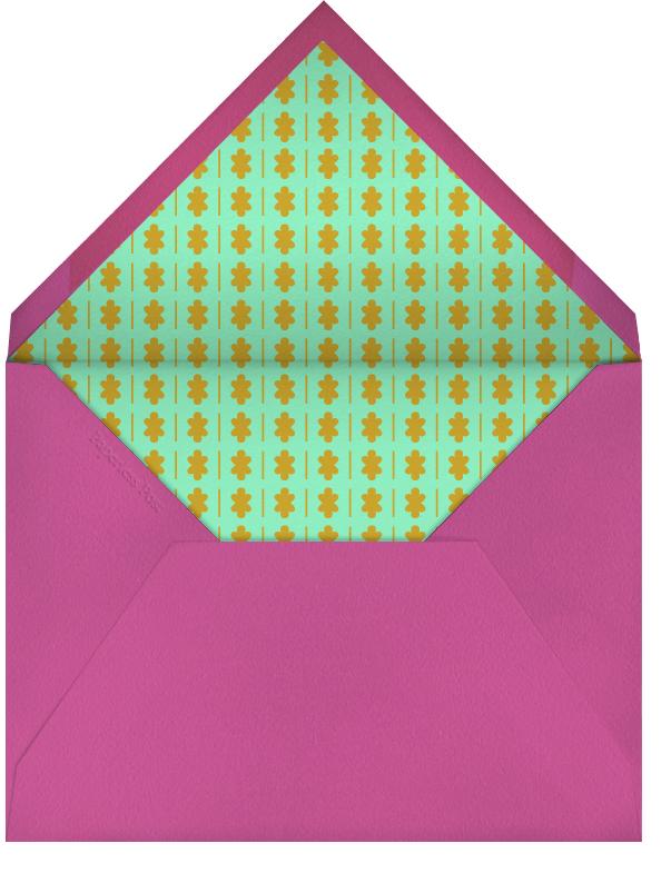 Party Hat - Pink - The Indigo Bunting - Kids' birthday - envelope back