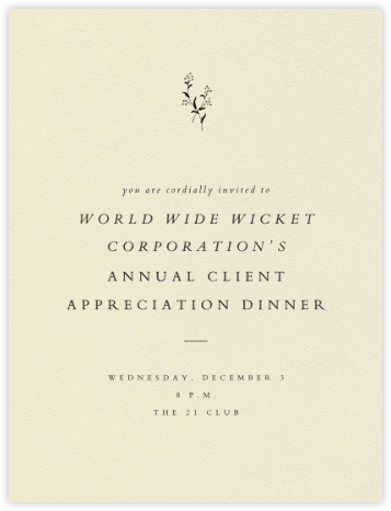 Folio II - Paperless Post - Reception invitations