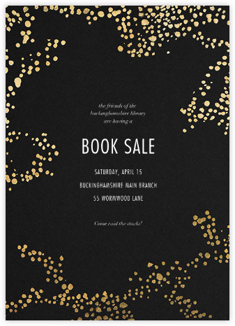 Evoke (Tall) - Black/Gold - Kelly Wearstler - Launch and event invitations