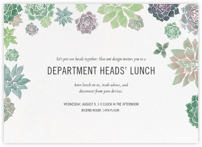 Echeveria (Invitation) | horizontal