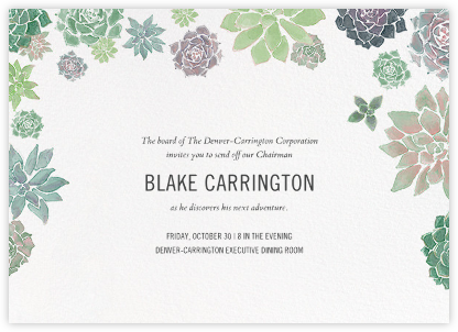 Echeveria (Invitation) - Paperless Post - Retirement invitations, farewell invitations