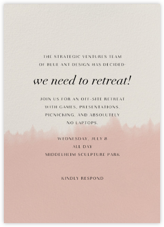 Dip Dye - Antique Pink - Paperless Post - Casual Party Invitations