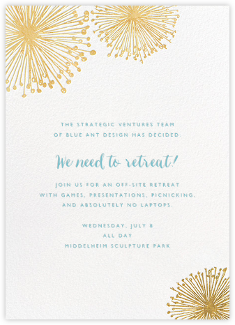 Dandelion (Invitation) - White/Gold - Paperless Post - Casual Party Invitations