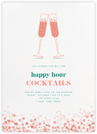 Double Bubble - Crate & Barrel - Happy Hour Invitations