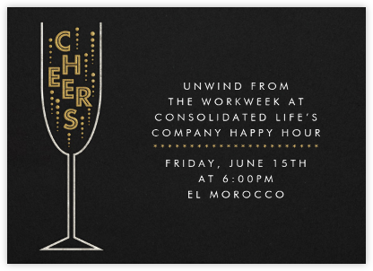 Cheers - Paperless Post - Happy hour invitations