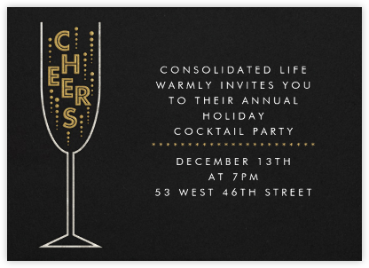 Cheers - Paperless Post - Business Party Invitations