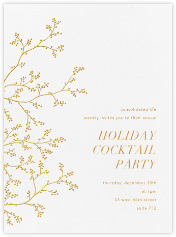 Winter Berries - White/Gold - Paperless Post - Company holiday party