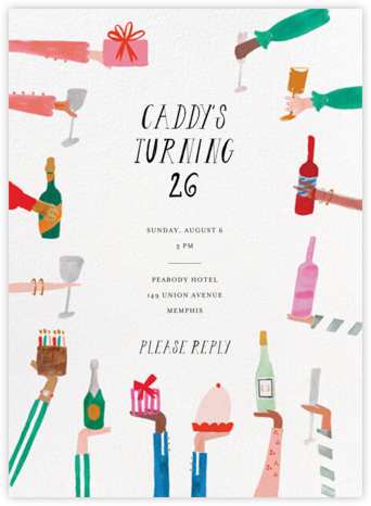 Hand Mr. Georgie a Drink - Mr. Boddington's Studio - Adult Birthday Invitations