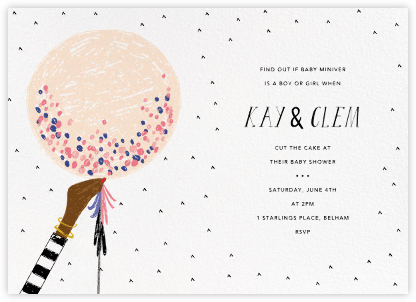 Ready to Burst - Bellini/Deep - Mr. Boddington's Studio - Baby Shower Invitations