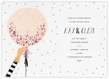 Ready to Burst - Bellini/Sherbet - Mr. Boddington's Studio - Baby shower invitations