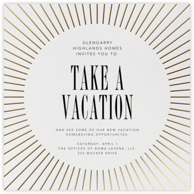 Our Story - Crate & Barrel - Launch Party Invitations