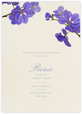 Moth Orchid - Purple - Felix Doolittle - Casual Party Invitations