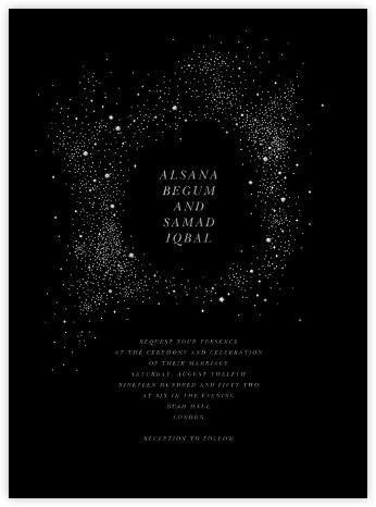 Pleiades (Invitation) - Black - Paperless Post - Modern wedding invitations